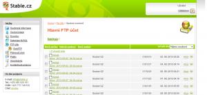 Výpis složky backup. Webadmin.Stable.cz  - profesionální webhosting.