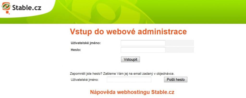 webadmin heslo
