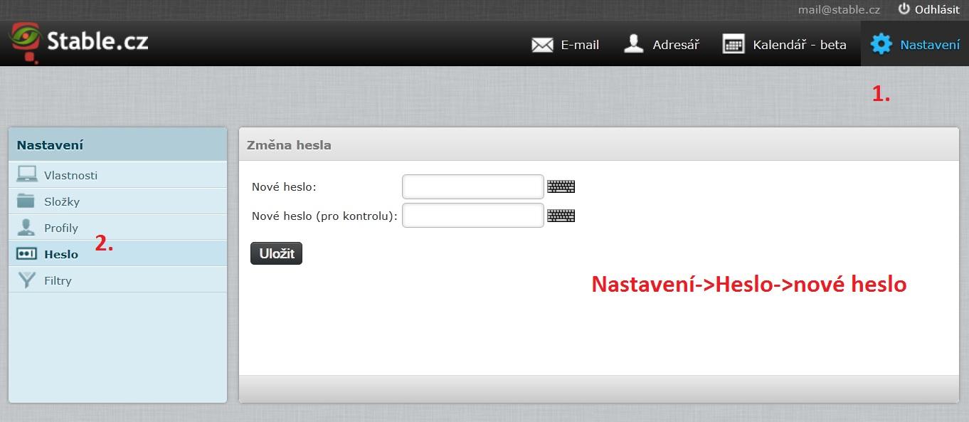 Změna hesla do emailu na webmail.stable.cz.